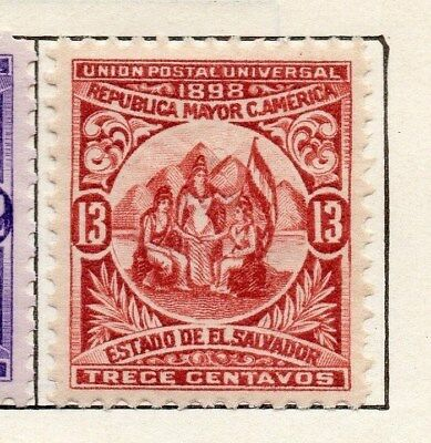 El Salvador 1898 Early Issue Fine Mint Hinged 13c. 121053