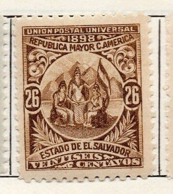El Salvador 1898 Early Issue Fine Mint Hinged 26c. 121056