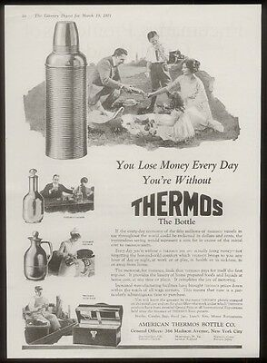 1921 Thermos bottle carafe pitcher & lunchbox photo ad