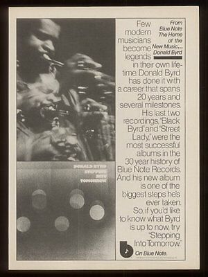 1975 Donald Byrd photo Stepping Into Tomorrow vintage print ad