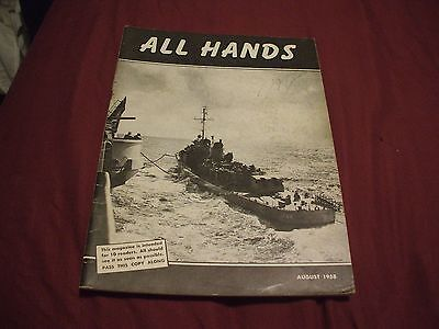ALL HANDS NAVY/NAVAL/MILITARY Magazine - August 1958