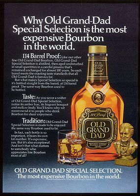 1980 Old Grand Dad 114 proof Bourbon whiskey vintage print ad