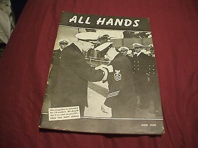ALL HANDS NAVY/NAVAL/MILITARY Magazine - June 1958
