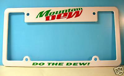 Mountain Dew Plate Frame For Car Or Wall/ Quality!
