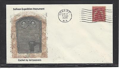 Sullivan Expedition Fdc 1929 Geneseo, New York Only One Made