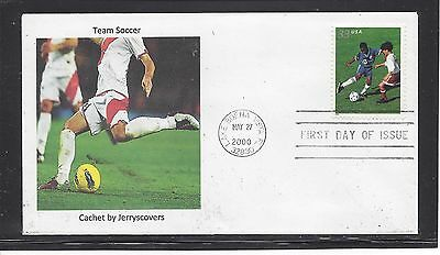 Soccer Fdc 2000 Lake Buena Vista, Florida Only One Made Team Sport