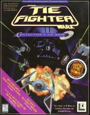 Star Wars Tie Fighter PC CD pilot Empire space ship combat sci-fi game + add-ons