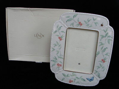 Lenox Ceramic Morningside Cottage Picture Photo Frame 5 x 7 Butterfly Bee