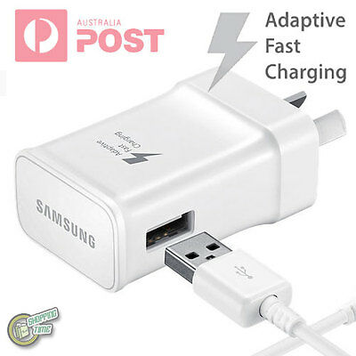 Original Genuine Samsung Galaxy S7 S6 Edge+ FAST CHARGER AC WALL CHARGER+CABLE