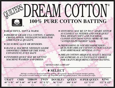 Quilters Dream Select Natural & White Batting Sampler