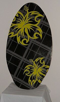 Strand Imports Black/grey/green Graphic Skimboard - Boogie Board *l@@k*