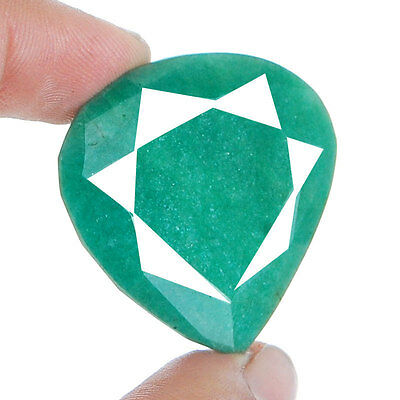 102 Cts Natural Brazilian Emerald Pendant Size Finest Green Rare Huge Gemstone