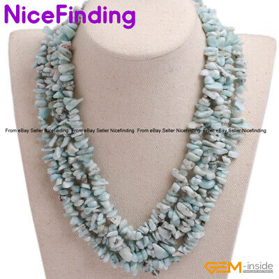 Handmade Natural Chip Gemstone Long Necklaces Fashion Women Jewelry Gift 17-20""