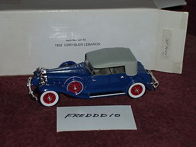 Motor Mint 1932 Chrysler Le Baron New In Box 1/32 Standard Scale