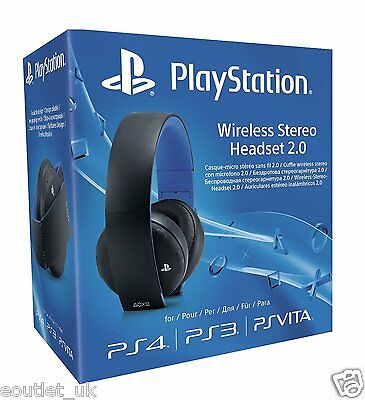 Oficial Sony PlayStation PS4 PS3 PS Vita Inalámbrico Auriculares Estéreo 2.0 UK