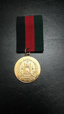 1348 Afghanistan Miltary Medal With Ribbon War Independance Friendship Nice Grad