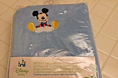 New Disney Baby MICKEY MOUSE Contoured CHANGING TABLE PAD COVER Blue