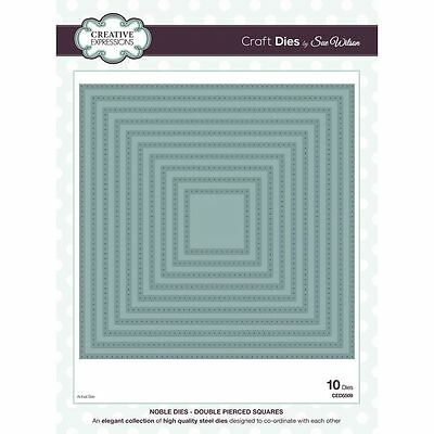 Creative Expressions NOBLE Dies DOUBLE PIERCED SQUARES CED5509 by Sue Wilson