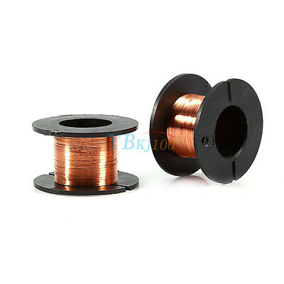 5pcs 0.1MM Magnet Copper Solder Winding PPA Enamelled Repair Reel Wire 15m NEW