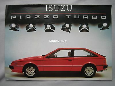 Isuzu Piazza Turbo Fold Out Brochure