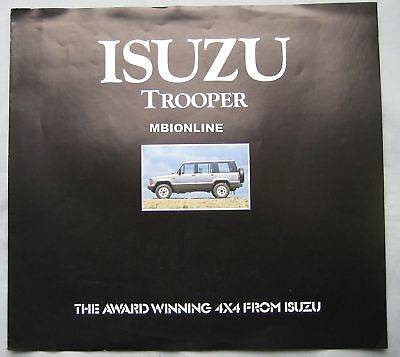 Isuzu Trooper Brochure