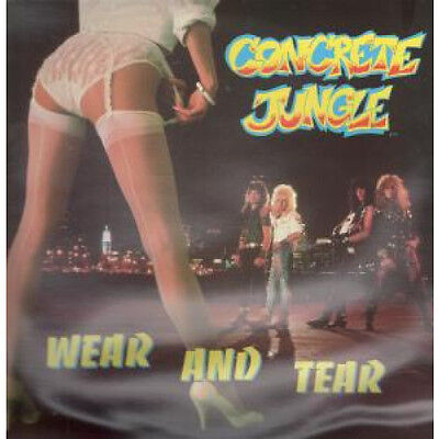 CONCRETE JUNGLE Wear And Tear LP VINYL 12 Track With Insert. Sleeve Has Rippli