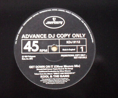 "Kool And The Gang Get Down On It 12"" Oliver Momm Mix Promo With Funky Stuff Uk"