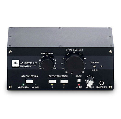 JBL M-Patch2 Passive Stereo Controller and Switch Box
