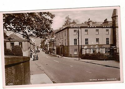 Dunkeld,bridge Street. . Old Real Photo Postcard