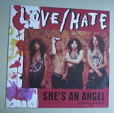 """Love/hate She's An Angel 12"""" Posterbag Uk"""