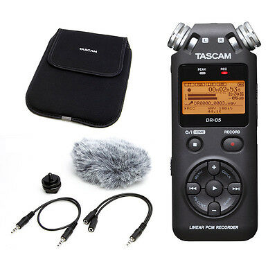 Tascam DR-05V2 Compact Digital Recorder and Accessories Bundle (NEW)
