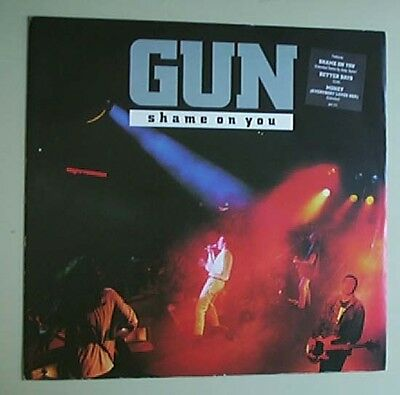 """Gun Shame On You 12"""" P/s With Better Days - Live ,and Money Uk"""