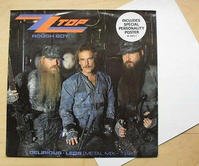 """Zz Top Rough Boy 12"""" With Poster + Delirious + Legs - Metal Mix Uk"""