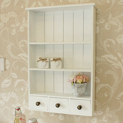 white wooden heart wall shelf cabinet vintage style home chic pretty furniture