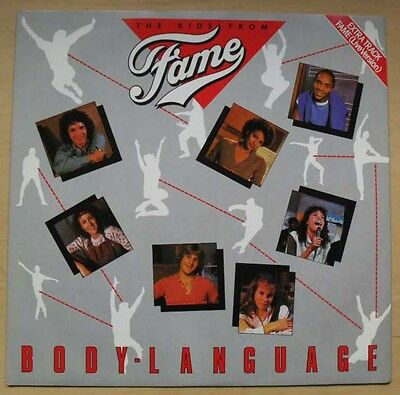 """Kids From Fame Body Language 12"""" 1983 With We Got The Power + Fame - Live Uk"""