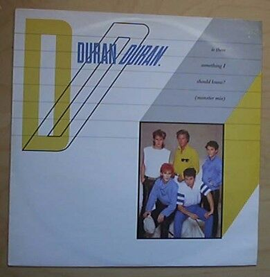 "Duran Duran Is There Something I Should Know 12"" P/s Monster Mix Uk"