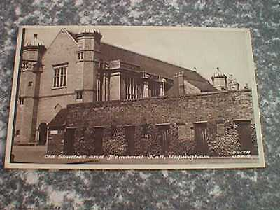 Old Studies & Memorial Hall, Uppingham - Vintage Sepia Postcard (Frith)