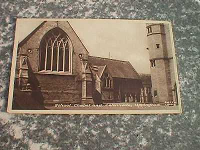 School Chapel & Colonnade, Uppingham - Vintage Sepia Postcard (Frith)