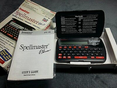 Vintage Franklin Spellmaster Plus SPQ-106 with box and instructions