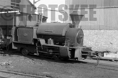 Larger Negative Industrial Steam Bowaters Railway Sittingbourne Melior 1958