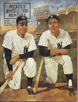 Joe DiMaggio & Mickey Mantle on Cover Beckett MLB June, 1991 + Oct, 1995 Issue