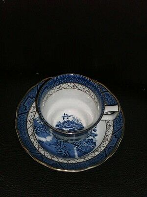 Royal Doulton Duo/cup & Saucer 'real Old Willow' 1981