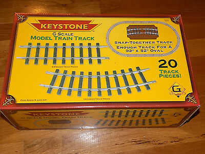 Keystone G Scale Model Train Track 20 Track Pieces Snap Together Track