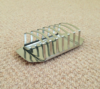 """A 7.25"""" LONG x 3.5"""" WIDE, WMF OF GERMANY, STAINLESS STEEL 6-SLICE TOAST RACK"""