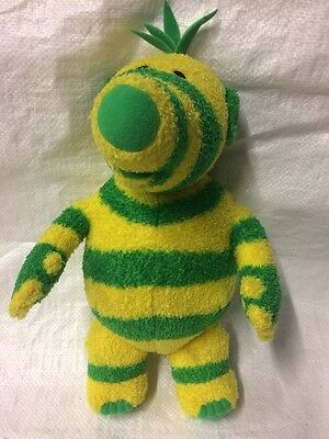 The Fimbles- Fimbo Soft Toy Yellow And Green Stripes.