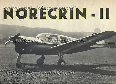 Nord Aviation N 1203 Norécrin II - Original Test von 1955