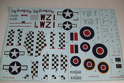 AIRFIX   NORTH AMERICAN P-51D MUSTANG  14001   1:24 scale decals