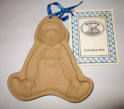 Brown Bag Cookie Art Boy Doll Mold Raggedy Andy 1986 Retired Hill Design