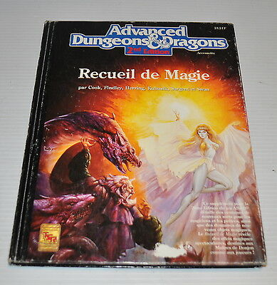 Advanced DUNGEONS & DRAGONS RECUEIL de MAGIE AD&D FRENCH BOOK 2121F