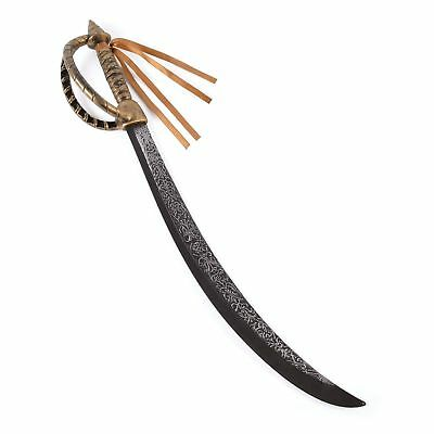"""30"""" DELUXE PIRATE CUTLASS TARNISHED SILVER & GOLD Mens Boys Fancy Dress Costume"""